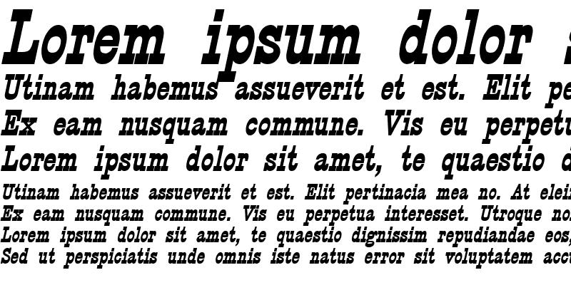 Sample of Circus Bold Italic