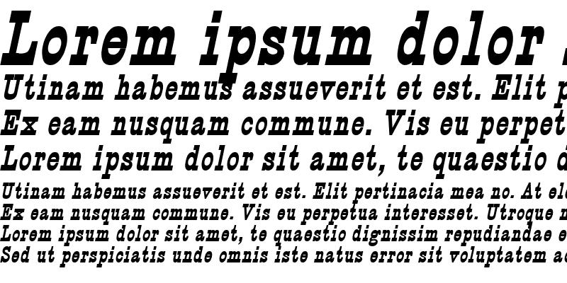 Sample of Circus BoldItalic