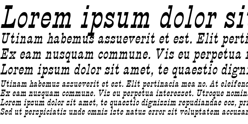 Sample of Circus Italic