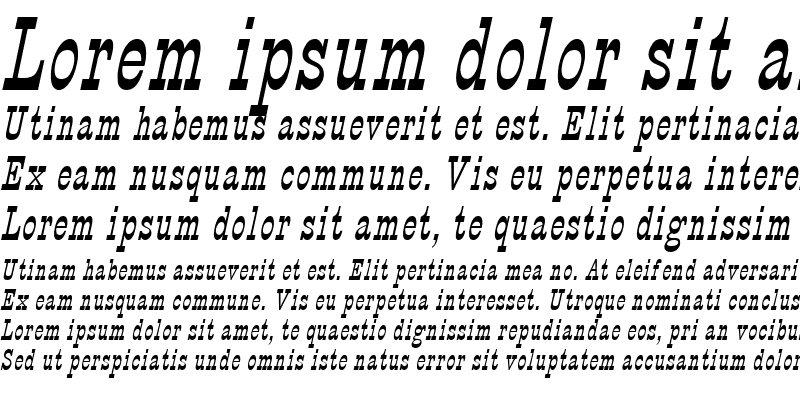 Sample of Circus Thin Italic