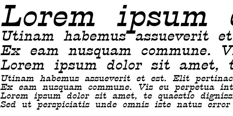 Sample of Circus Wide Italic