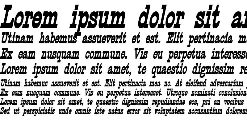 Sample of CircusThin BoldItalic