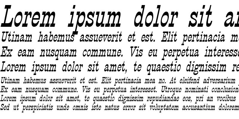 Sample of CircusThin Italic