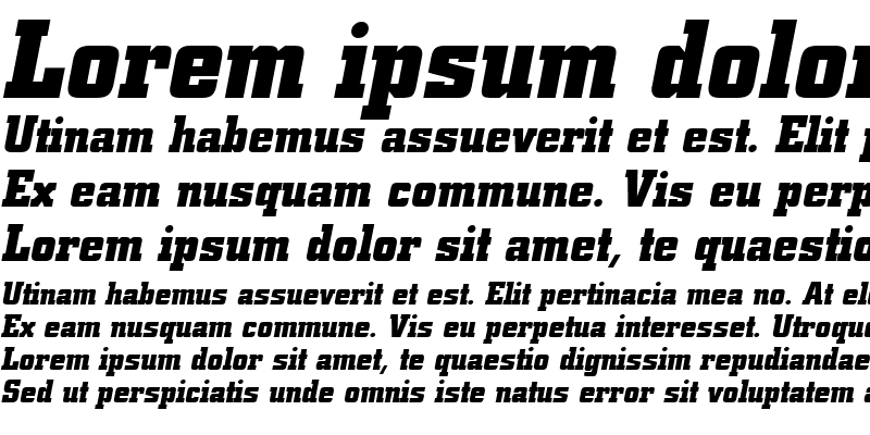Sample of City Bold Italic