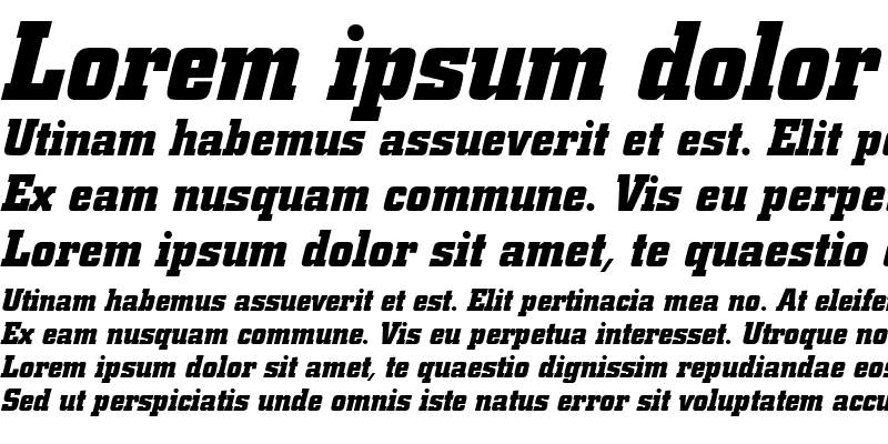 Sample of City BQ ItalicBold