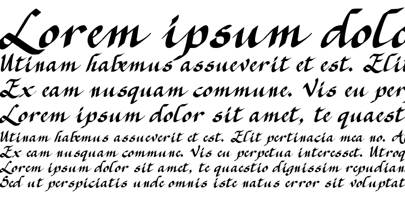 Sample of CK Calligraphy