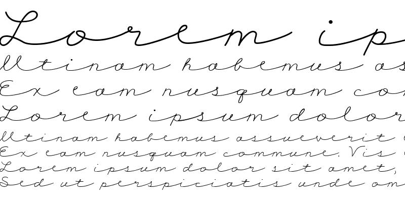 Sample of CK Cursive