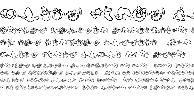 Sample of CK Holiday Symbols Regular