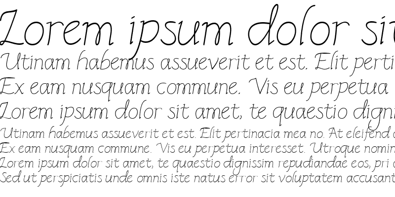 Sample of CK Italic