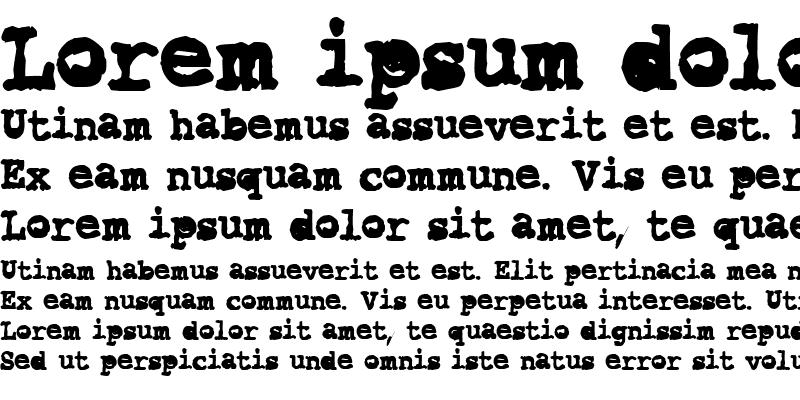 Sample of CK Typewriter