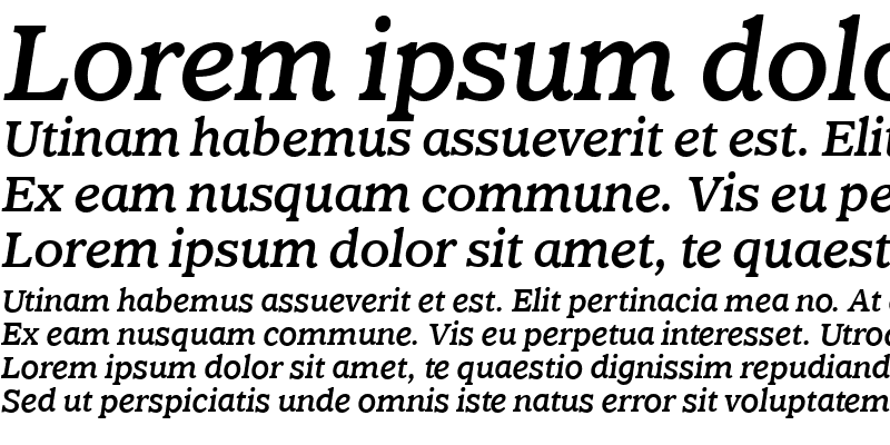 Sample of ClaremontMediumItalicOS Roman