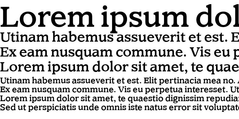 Sample of ClaremontMediumOS Roman