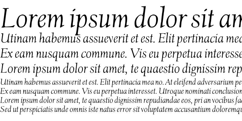 Sample of ClaremontOS Italic