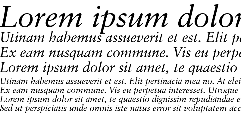 Classical Garamond Italic Download For Free View Sample Text Rating And More On Fontsgeek Com