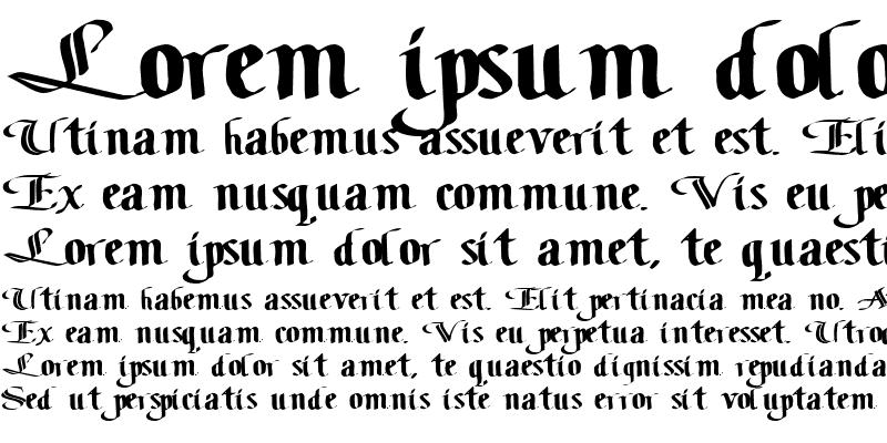Sample of ClassicFont104 ttext Regular