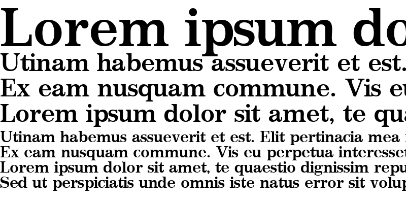 Sample of ClassicSSK Bold