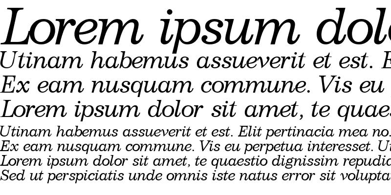 Sample of ClassicSSK Italic