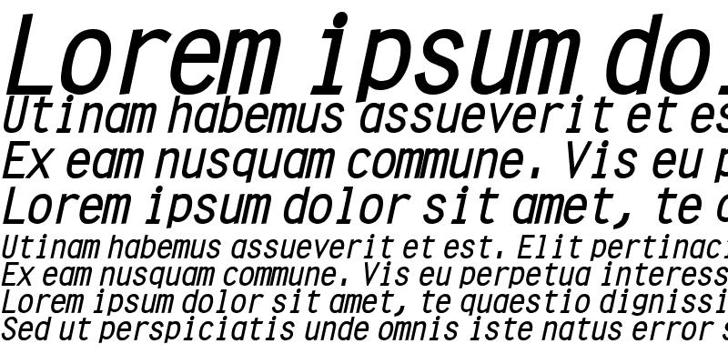 Sample of Clean BoldItalic