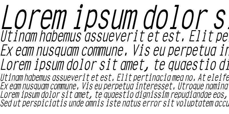 Sample of Clean Condensed Italic