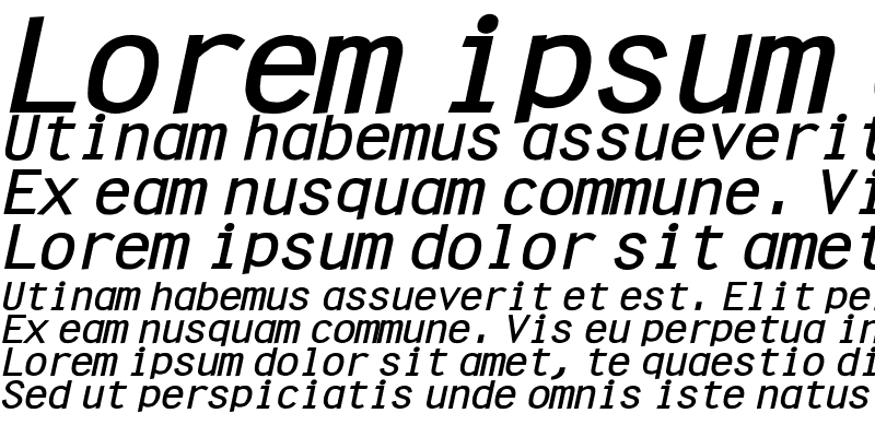 Sample of Clean Wide Bold Italic