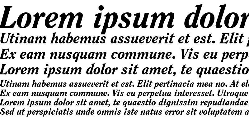 Sample of Clearface Black SSi Extra Bold Italic