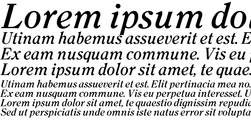Sample of Clearface Bold Italic