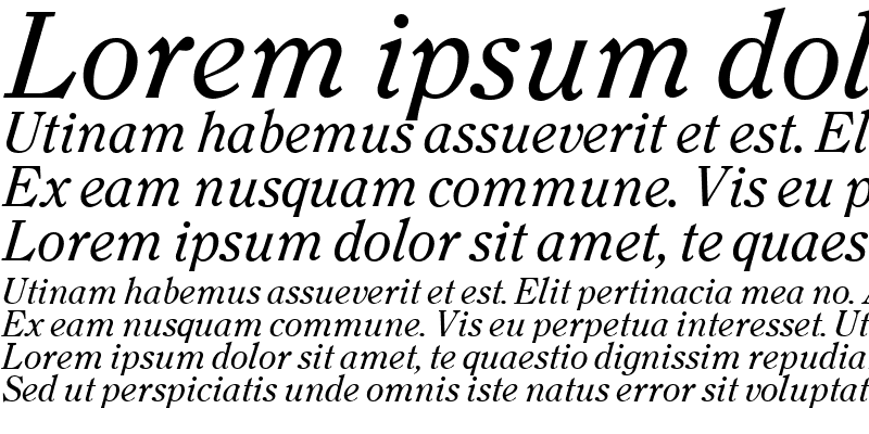 Sample of Clearface Italic