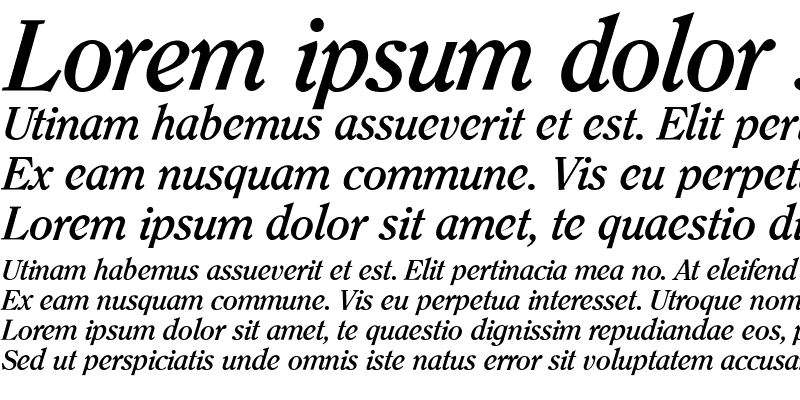 Sample of Clearface ITC BQ Bold Italic