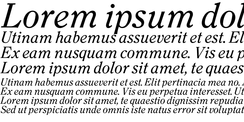 Sample of Clearface Regular Italic