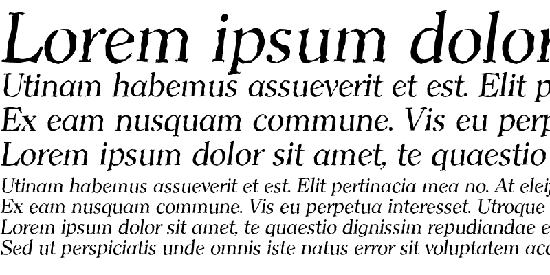 Sample of ClearfaceAntique Italic