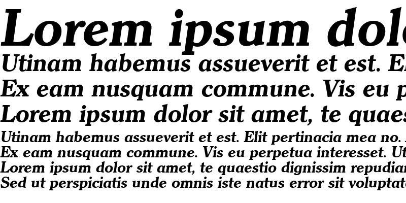 Sample of ClearfaceLH Bold Italic