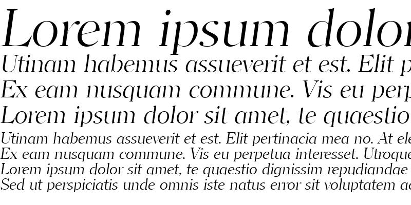 Sample of ClearfaceLH Italic