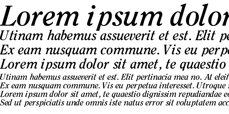 Sample of ClearfaceSSK Bold Italic