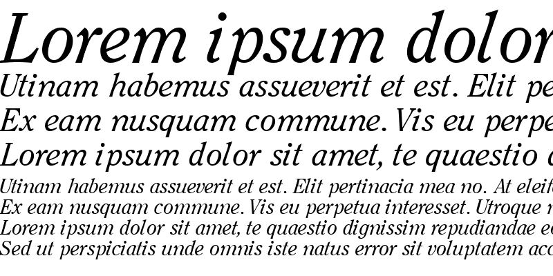 Sample of ClearfaceSSK Italic