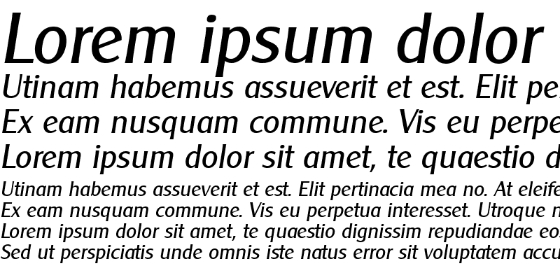 Sample of Cleargothic Italic