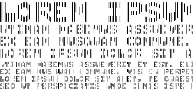 Sample of CMC7 Regular