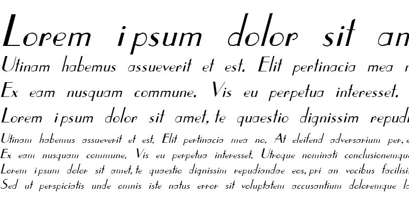Sample of Coke 6 Italic