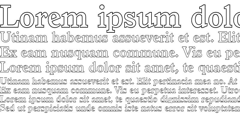 Sample of ColinBeckerOutline-Medium