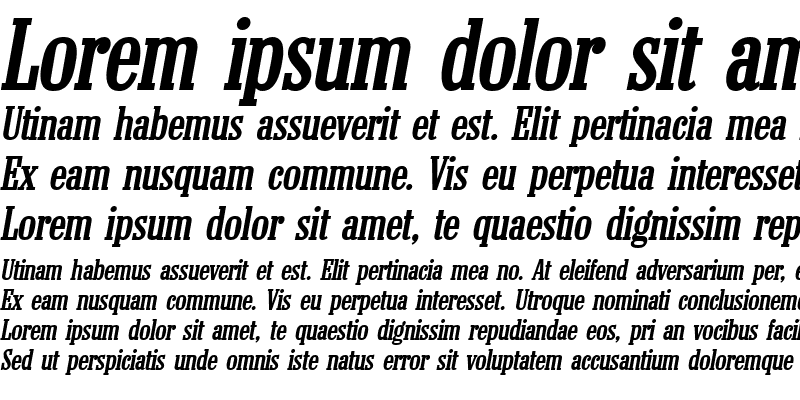 Sample of Colonel Bold Italic