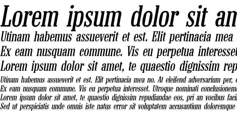 Sample of Colonel Italic