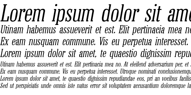 Sample of ColonelL Italic