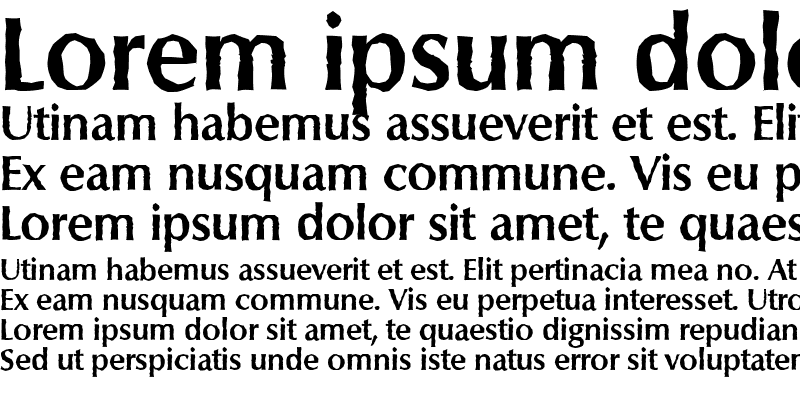 Sample of ColumbiaAntique Bold