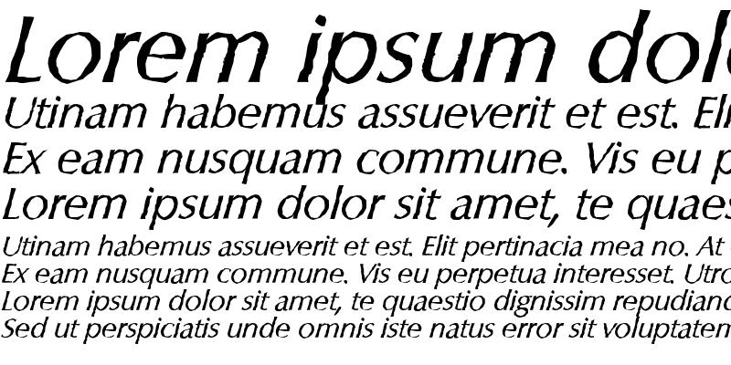 Sample of ColumbiaAntique Italic
