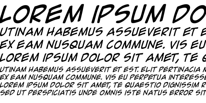 Sample of Comic Geek Italic