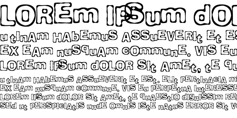 Sample of Comicate Regular
