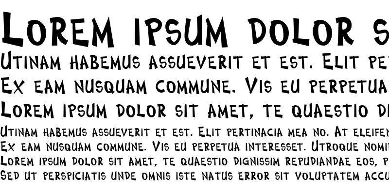 Sample of ComicType Bold