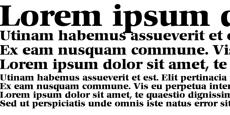 Sample of Commencement Bold