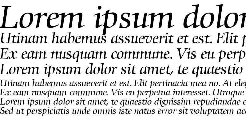 Sample of Commencement RegularItalic