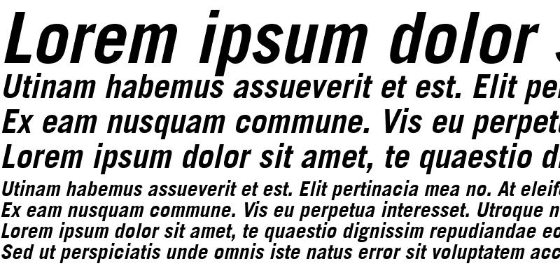 Sample of Commerce Black SSi Bold Italic