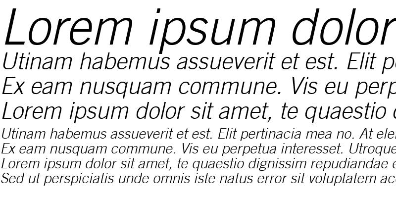 Sample of Commerce Light SSi Light Italic
